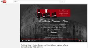 Trattoria Micci - Video su YouTube