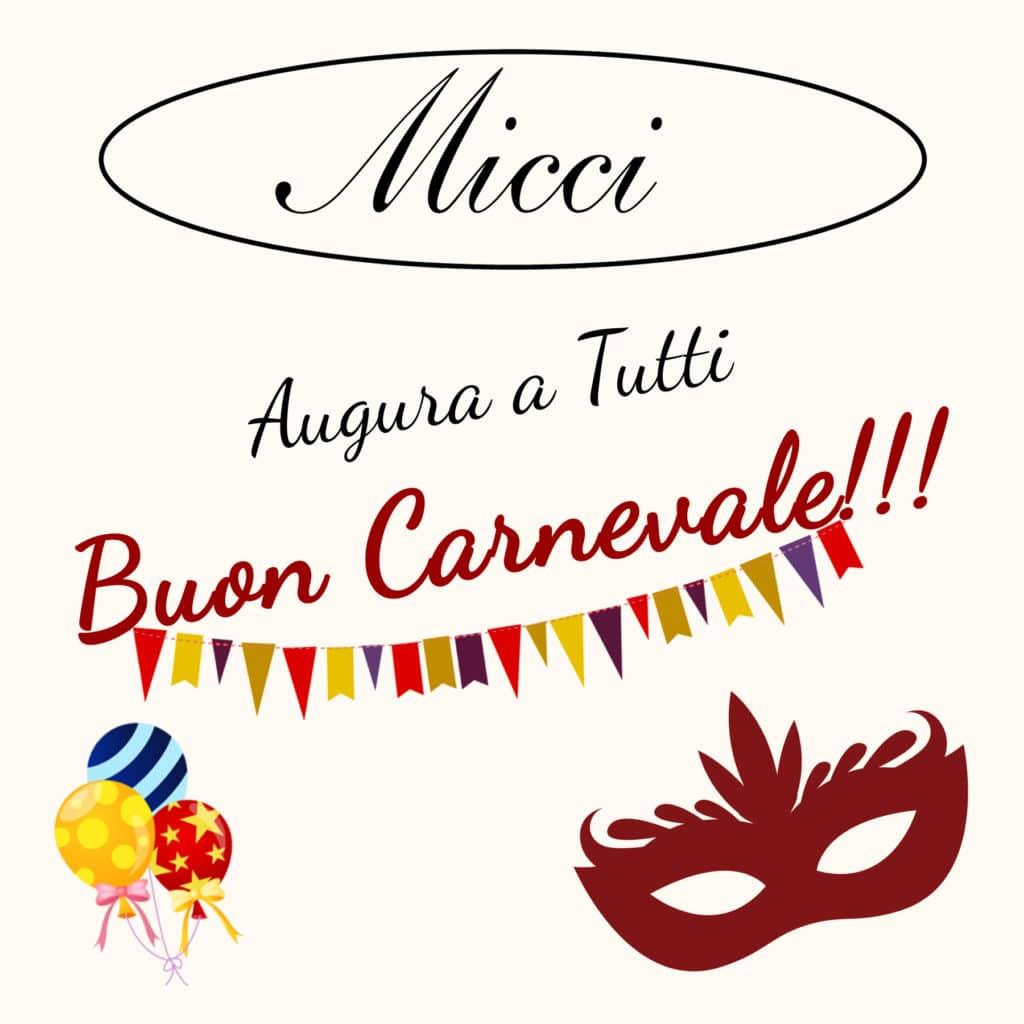 Trattoria Micci in Rome, Prati, says Happy Carnival 2017 to everybody!