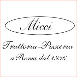 Micci Trattoria Pizzeria a Roma dal 1936