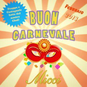 Trattoria Micci - Carnevale 2018, a Roma, quartiere Prati - FRAPPE E CASTAGNOLE dello Chef Matteo!