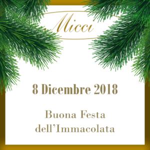 Trattoria Micci- Festa dell'Immacolata 8 Dicembre 2018